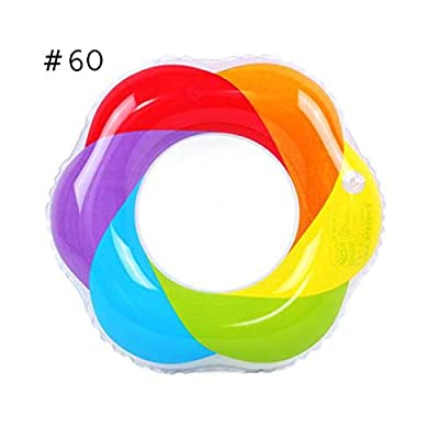 Rainbow Flower Inflatable Swimming Ring,Pool Float Ride on Water Raft Swim Ring Pool Floaties Pool Float Party Home Water Toys Supplies for Adults & Kids: Home & Kitchen