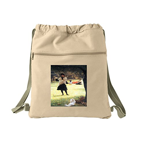 Cricket (Tissot) Canvas Dyed Sack Backpack Bag by Style in Print