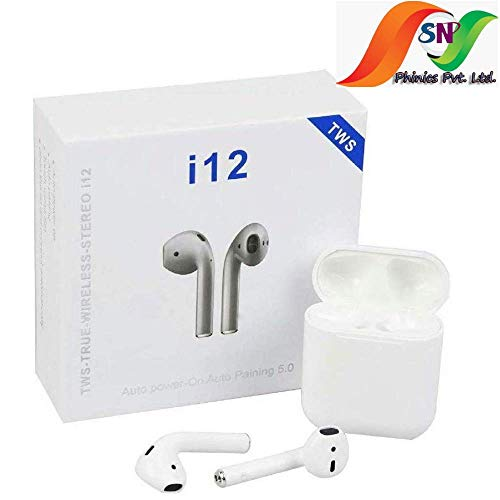 phinics l12 True Wireless Bluetooth Headset with Smart Touch Sensor for Attending Call,redial and Play/Pause Music, Touc