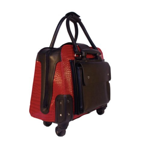 Hang Accessories Harlequin Red Crocodile Rolling Trolley Bag by Hang Accessories (Image #2)
