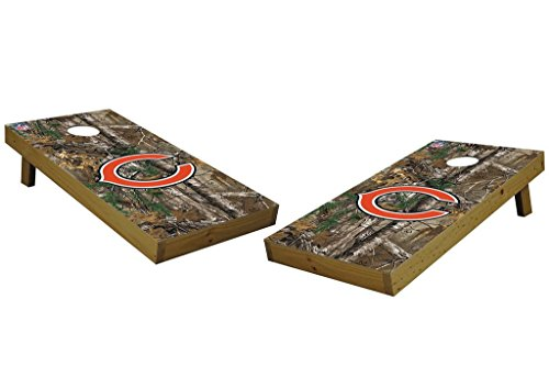 PROLINE NFL Chicago Bears 2'x4' Cornhole Board Set with Bluetooth Speakers - Xtra Camo Design by PROLINE
