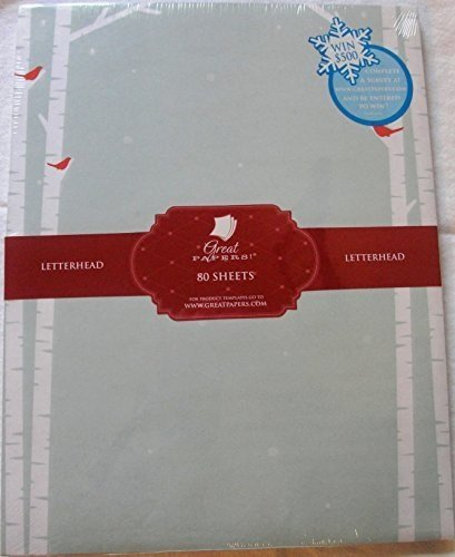 Stationery Holiday (Birch Tree Silhouette Holiday Paper - 80 Sheets)