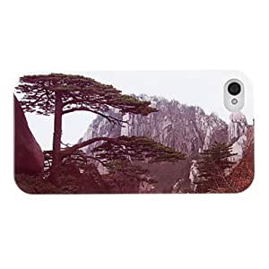GOG- Lifelike Pine Greeting Guests Pattern ABS Back Case for iPhone 4/4S