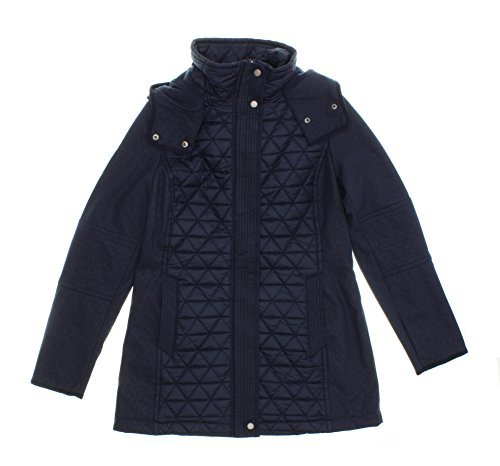 - Marc New York by Andrew Marc Women's Quilted Hooded Jacket (X-Large, Navy)