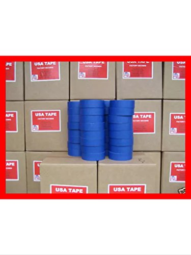 Lot of 32 rolls 1 1/2'' X 60 Yrds Blue painters masking Tape by USA Tape