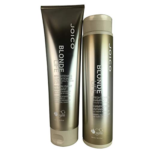 Joico Blonde Life Brightening Shampoo 10.1 fl oz and Conditioner 8.5 fl oz Duo (Shampoo And Conditioner For Blonde Highlighted Hair)