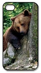 Bear Hug a Tree Fell Asleep DIY Hard Shell Black iphone 4/4s Case Perfect By Custom Service