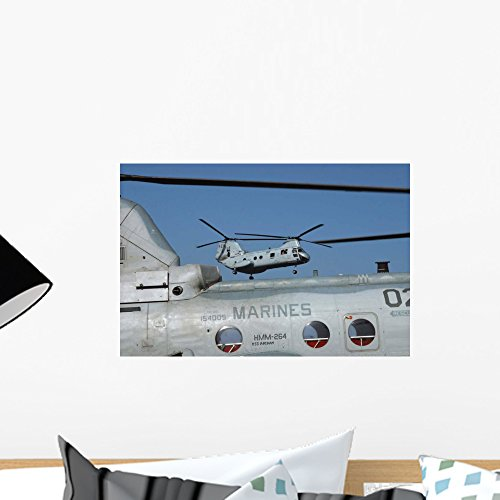 - Us Marine Corps Ch-46 Wall Mural by Wallmonkeys Peel and Stick Graphic (18 in W x 12 in H) WM40639