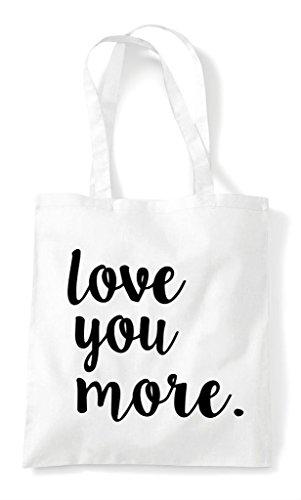 Cute White Bag Statement Tote You More Romantic Shopper Love qxwYREH8W