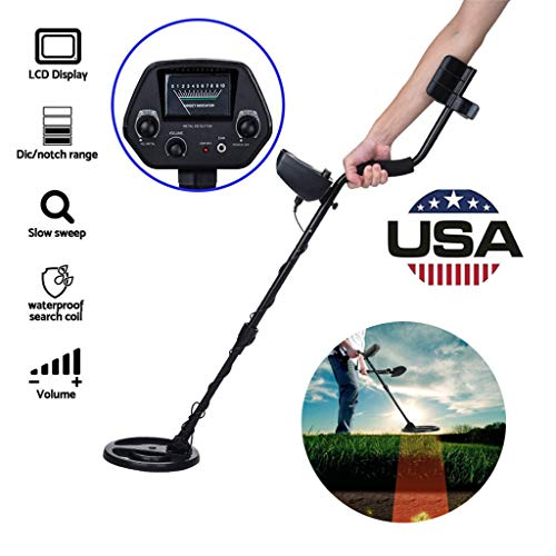 """Micozy Metal Detector High-Accuracy Metal Finder with LCD Display, Discrimination Mode, Distinctive Audio Prompt, 10"""" Waterproof Search Coil for Underwater Metal Detecting"""