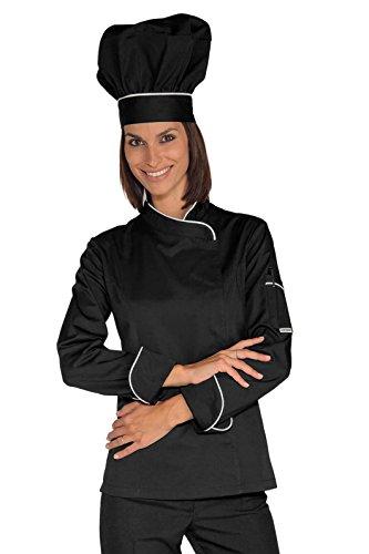 Tessuto Chef Antipanico Manica S Gr Lady Lunga m² Bottoni 100 22688 Bianco Cotone 190 Nero Isacco bianco Giacca qnPwCBSEP