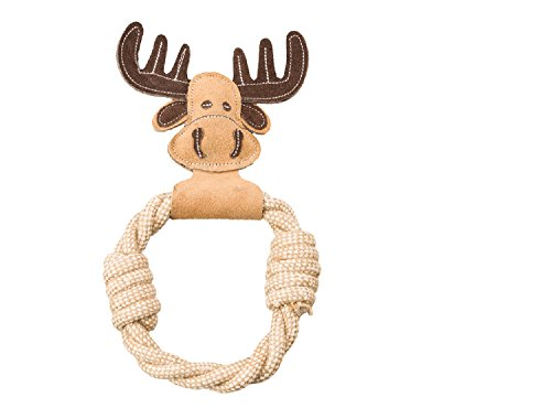 Ethical Pets Dura-Fused Leather Assorted Animal Rings Dog Toys, 11