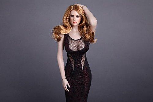 1:6 女性の頭 ヘッド 美人 アクション フィギュア アクセサリー 交換用 素体 12インチ アヴリル 金髪