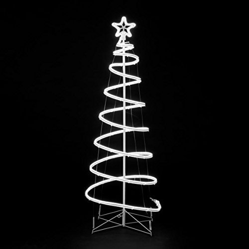 18m neon flex spiral led tree ice white indoor and outdoor 18m neon flex spiral led tree ice white indoor and outdoor christmas display aloadofball Choice Image
