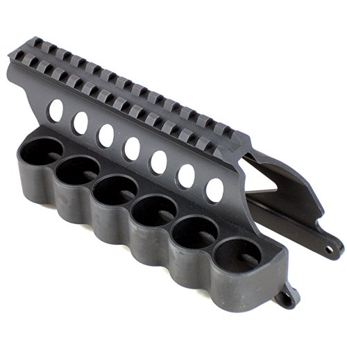 Mesa Tactical SureShell Carrier and Saddle Rail for Remington 870 (6-Shell, 12-GA, 5 in)