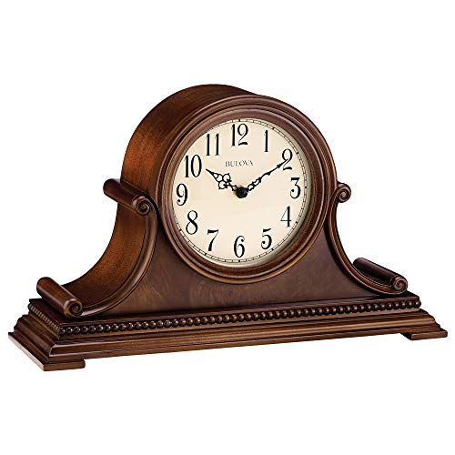 Price comparison product image Bulova B1514 Asheville Mantel Clock,  Brown Cherry