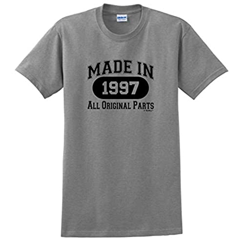 21st Birthday Party Supplies Gift Made 1997 All Original Parts T Shirt Large Sport Grey