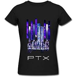 ZHEDZU Women's Pentatonix Tour 2016 Cool T Shirt Cotton Black XL