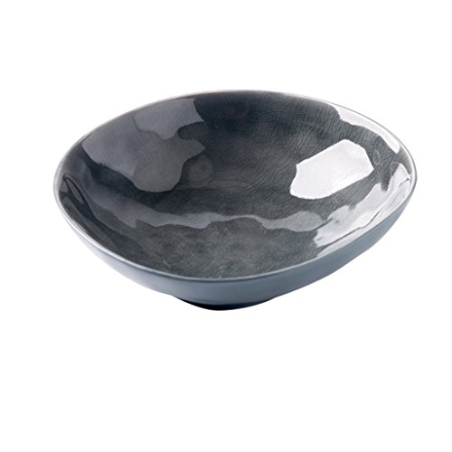 alad Ceramic Bowl Retro Bowl Sugar Bowl Dessert Bowl Creative Household Dishes Bowl (Color : Dark grey) ()