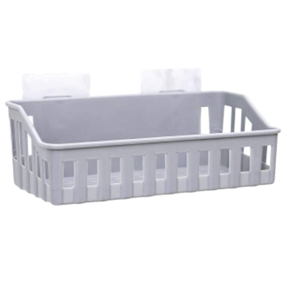 abnehmbar wiederverwendbar Morehappy7 Super Power Vakuum-Saugnapf Badezimmer-Regal ohne Bohren grau f/ür die K/üche Ablagekorb Free Size
