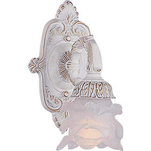 ictorian One Light Wall Sconce from Paris Market collection in Whitefinish, 6.00 inches ()