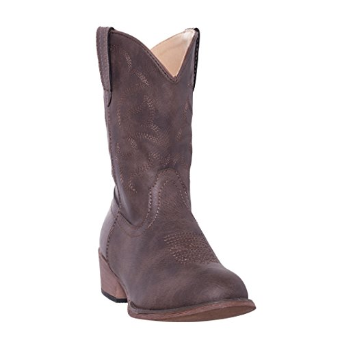Silver Canyon children Monterey Kids Western Cowboy Boot For Boys and Girls, Distressed Brown, 11 M US Little Kids ()