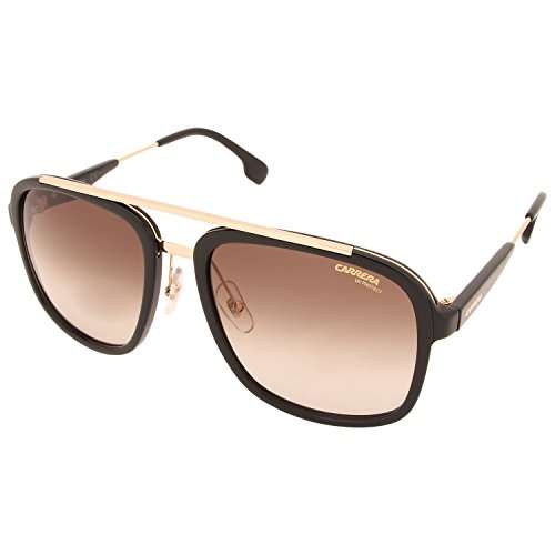 Carrera Men's Ca133s Aviator Sunglasses, Black Gold/Brown Gradient, 57 - Frames Sunglass Carrera