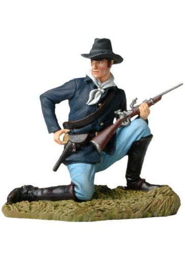 Kneeling US Cavalryman Loading Carbine