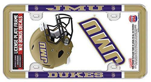 (WinCraft James Madison University JMU Dukes License Plate Frame and 2 Decals)