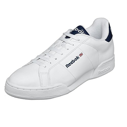 margen extremidades sitio  Reebok Men's NPC Rad Tennis Shoe, White/Classic Navy, 8.5M: Buy Online at  Low Prices in India - Amazon.in