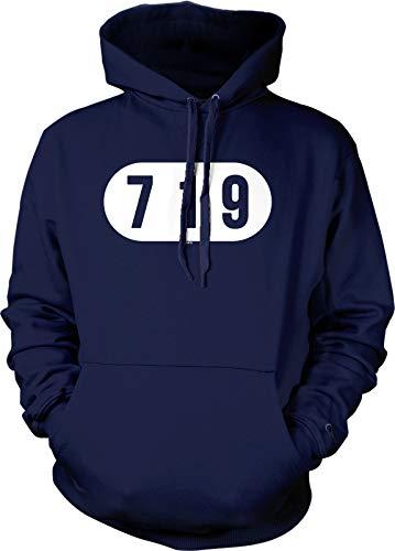 Hoodteez 719 Colorado Springs Hooded Sweatshirt, M Navy (Best Breweries In London)
