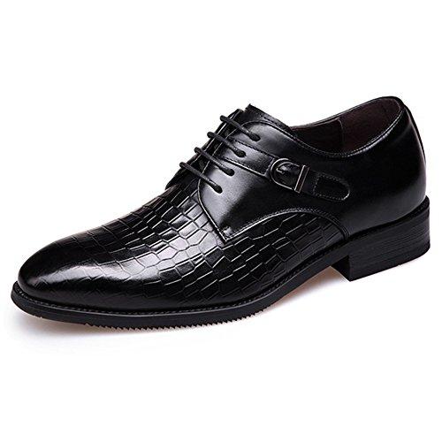 Scarpe Da Uomo Scarpe Eleganti Da Lavoro Maglia In Pelle Traspirante Scarpa In Vera Pelle Basso Aiuto Per Il Lavoro D'ufficio Black