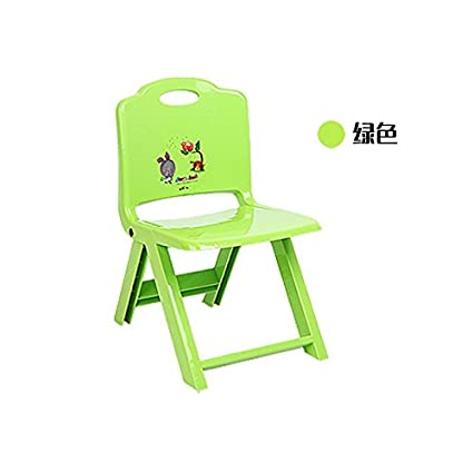 Cartoon, niños, parte trasera de la silla, sillas de plástico, heces ...