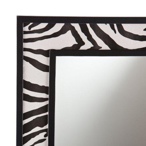 Zebra Print Faux Leather Mirror - 20W x 32H in.