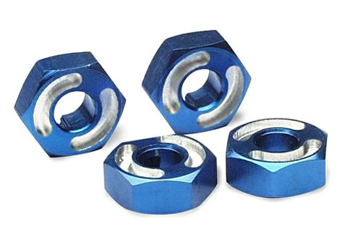 Traxxas 4954X Blue-Anodized Aluminum Hex Wheel Hubs (set of 4) ()
