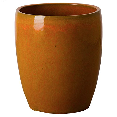 Bullet Ceramic Planter - Bright Orange by Emissary