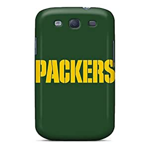 Awesome VCieHzB7513SrAWi Eriklcoeman Defender Tpu Hard Case Cover For Galaxy S3- Green Bay Packers