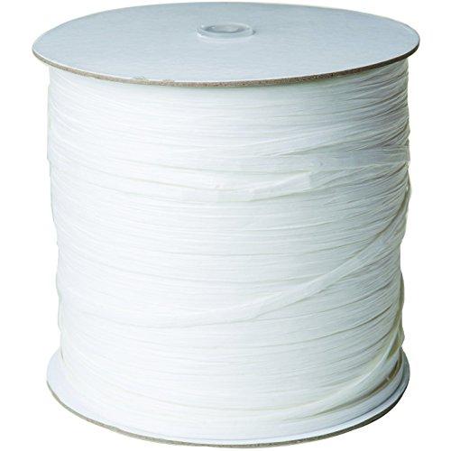 Jillson & Roberts Paper Raffia Ribbon, 1/4'' Wide x 1000 Yards, White by Jillson Roberts