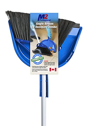 """M2 Professional 10"""" Mars Angle Broom With Dust Pan (Pack of 4) - For Home, Office, Kitchen Use"""