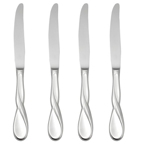 Oneida Satin Aquarius Dinner Knives, Set of 4