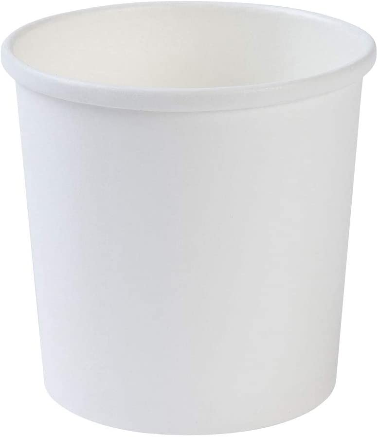 BIOZOYG Taza desechable org/ánica de Papel Blanco To Go I Taza compostables Recubrimiento Interior de PLA Taza Sopera To Go Copa cart/ón para Helado I 25 Tazas Redondas de cart/ón estables 300 ml