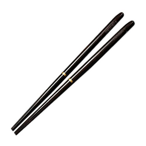 1 Pair High Grade Portable Ebony Wood Chinese Chopsticks Screw Style Ancient Chinese Chopsticks