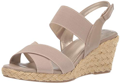 Bandolino Women's Hearsay Wedge Sandal, café Latte, 9.5 Medium US