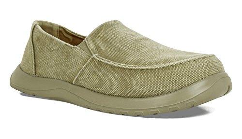 SoftScience The Frisco Men's Canvas Slip-On Shoes - Khaki, Size (Khaki Canvas Footwear)