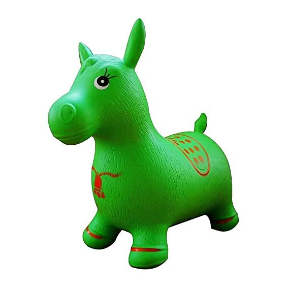 KGF Inflatable Jumping & Bouncer Riding Horse Animal Toy for Kids Bouncer Inflatable Hoppers & Bouncer