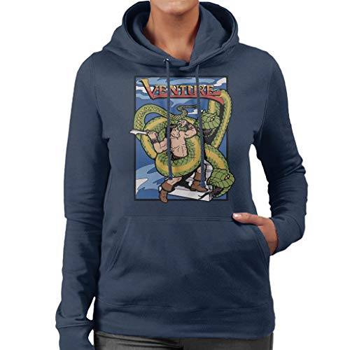 Sweatshirt Sweatshirt Sweatshirt Navy Venture Women's Game Hooded Blue Art Cover tffxX