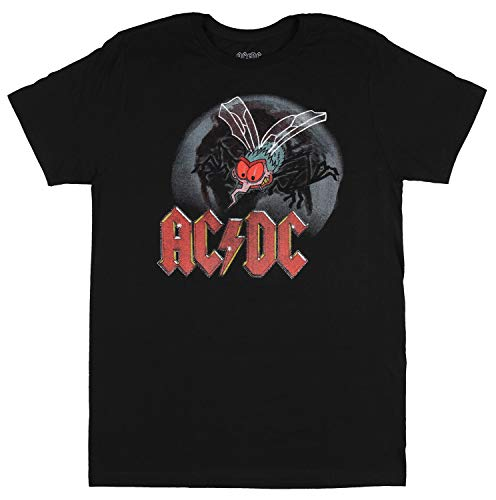 AC/DC T-Shirt Fly On The Wall Concert Tour 1985 Hall of Fame Vinyl CD Men's (X-Small) Black 1985 Hall Of Fame