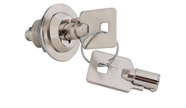 4 pulgadas perilla de cerradura de gabinete de aleaci/ón de zinc Cerradura con llave cromada cerradura de seguridad con tornillos para gabinetes de puertas peque/ñas Cerraduras de cerrojo con llave