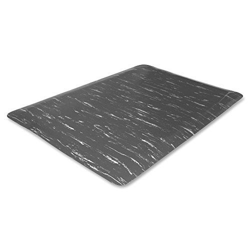 Genuine Joe Marble Top Anti-Fatigue Mat, 60''L X 36''W, Gray Marble by Genuine Joe