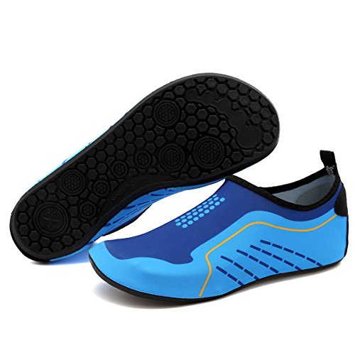 Men Exercise Barefoot Beach Shoes Women Aqua Anti For Yoga Shoes Pool Slip Skin CIOR and Multifunctional Surf Blue001 Water BwTtqdB
